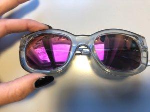 Le Specs Hoekige zonnebril veelkleurig