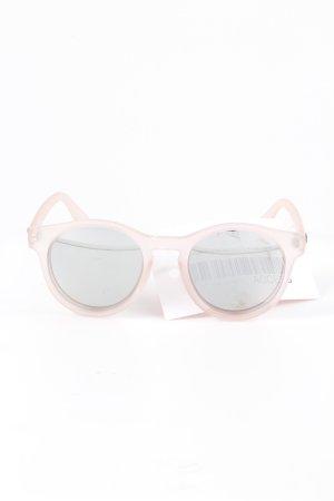 Le Specs runde Sonnenbrille altrosa Casual-Look