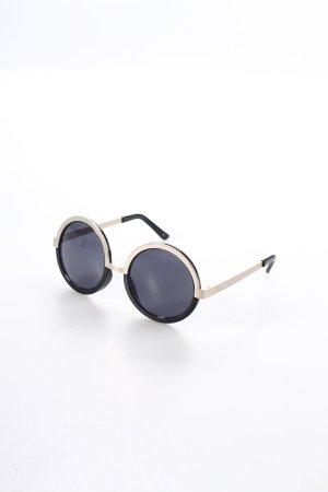 Le Specs runde Sonnenbrille bronzefarben-schwarz Eleganz-Look
