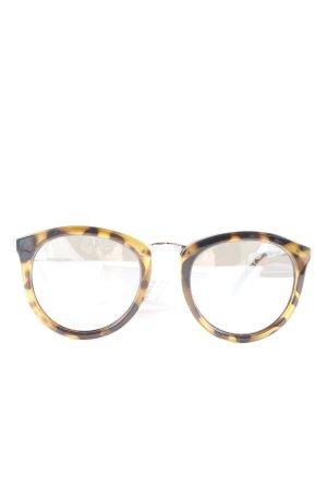 Le Specs Occhiale da sole rotondo nero-marrone chiaro Stampa leopardata