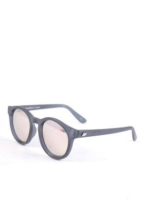 Le Specs runde Sonnenbrille schwarz Street-Fashion-Look