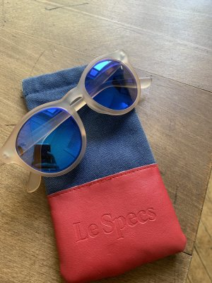 Le Specs Butterfly Glasses light pink-neon blue