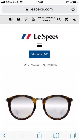 Le Specs Oval Sunglasses multicolored