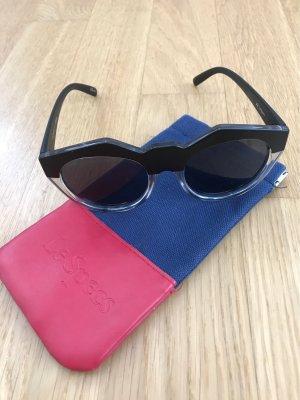 Le Specs Occhiale da sole spigoloso nero-grigio chiaro