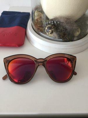 Le Specs Sonnenbrille verspiegelt pink braun wie neu