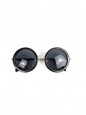 Le Specs Sonnenbrille Vintage Gold-Schwarz John Lennon Rund 70ies