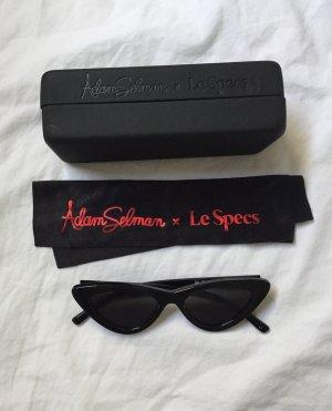 Le Specs Retro Glasses black acetate