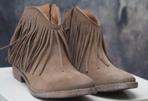 Western Booties light brown-beige leather