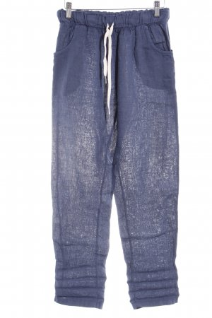 le streghe Linen Pants steel blue casual look