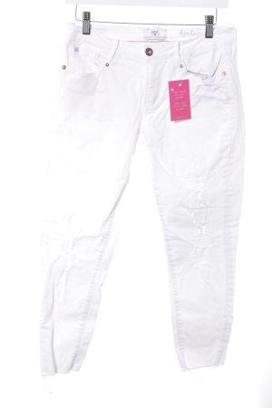 Le Temps des Cerises Jeans a 7/8 bianco stile casual
