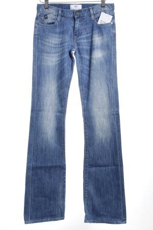 Le Temps des Cerises Boot Cut Jeans kornblumenblau Bleached-Optik
