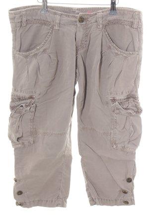 Le Temps des Cerises Pantalon cargo blanc cassé style décontracté