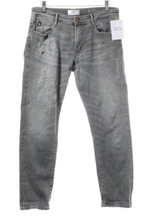 Le Temps des Cerises Skinny Jeans grau Destroy-Optik