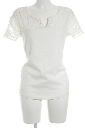 Le Temps des Cerises T-Shirt creme minimalistischer Stil