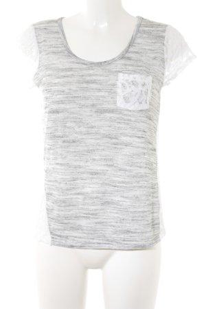Le Temps des Cerises T-Shirt weiß-hellgrau Casual-Look