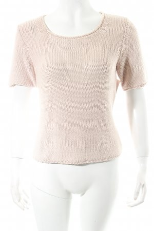 Le Tricot Longhin Kurzarmpullover beige Casual-Look