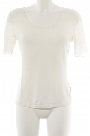 Le Tricot Longhin T-Shirt wollweiß schlichter Stil