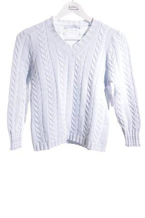 Le Tricot Longhin Jersey trenzado azul celeste estilo clásico