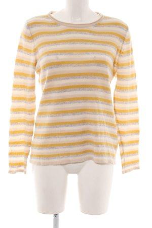 Le Tricot Perugia Cashmere Jumper striped pattern casual look