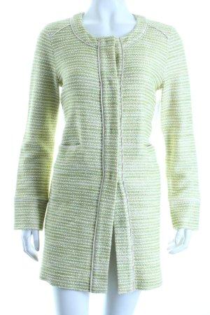 Le Tricot Perugia Long-Blazer hellgrün-wollweiß Glitzer-Optik