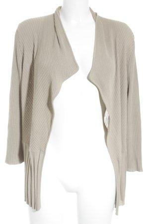 Le Tricot Perugia Cardigan in maglia beige stile casual