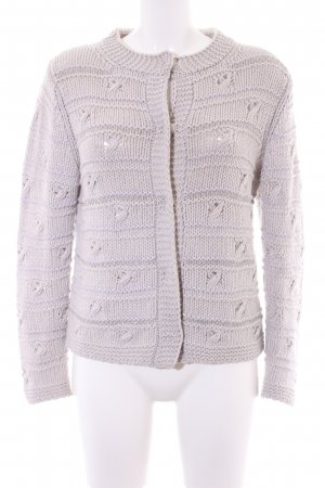 Le Tricot Perugia Chaleco de punto beige claro Patrón de tejido look casual