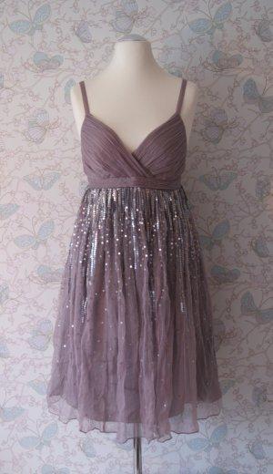 Le Trou D'Aiguille Chiffon-Kleid, Paillettenkleid, lavendel, Gr. 40