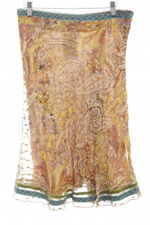 Le trou d'aiguille Silk Skirt abstract pattern extravagant style