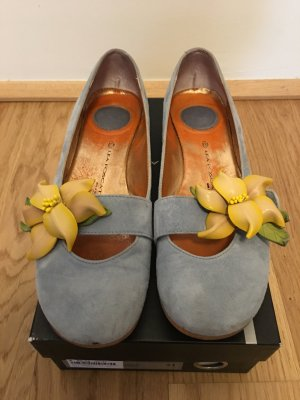 Lea foscati Mary Jane Ballerinas azure-yellow