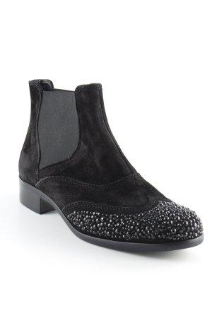 Lea foscati Schlüpf-Stiefeletten schwarz Elegant