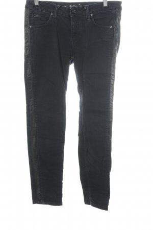 leana woman Low Rise jeans zwart Biker-look