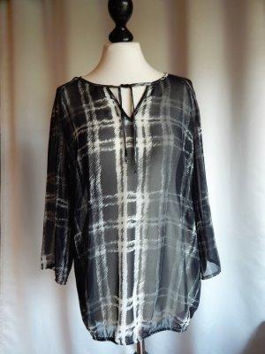 Transparante blouse wit-zwart Polyester