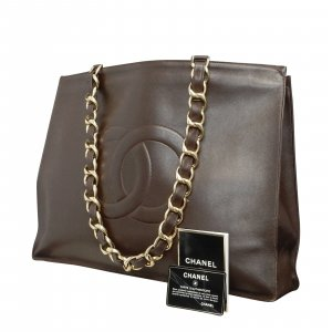 Leather Brown Chain Shoulder Bag
