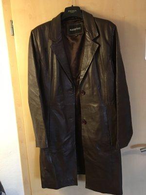 Mauritius Leather Coat dark brown