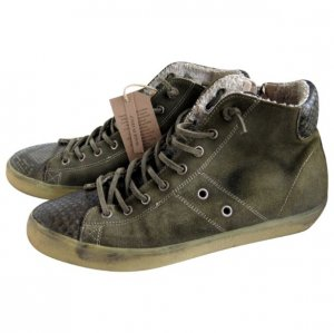 Leather Crown Sneakers aus Pythonleder