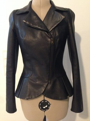 Leather Peplum Jacke von Alexander Mc Queen