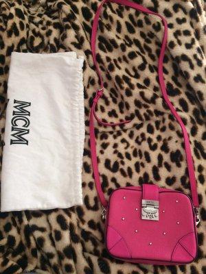 Leather small pink shoulder bag