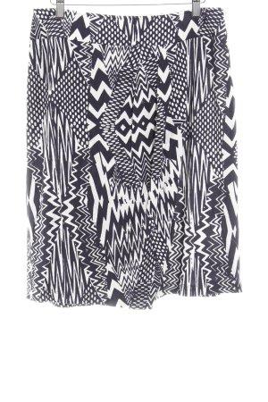 Lebek High Waist Rock schwarz-weiß abstraktes Muster Casual-Look