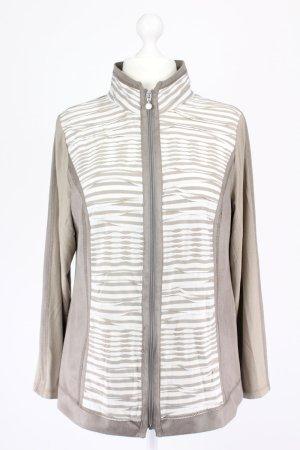 Lebek Pullover mit Reißverschluss braun Größe 44