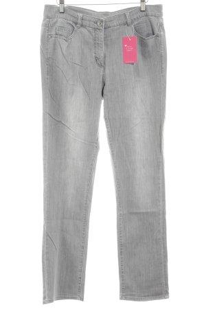 Lebek Straight-Leg Jeans hellgrau Casual-Look