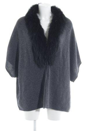 Lebek Gebreide poncho grijs-zwart casual uitstraling
