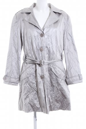 Lebek Trenchcoat silberfarben Casual-Look