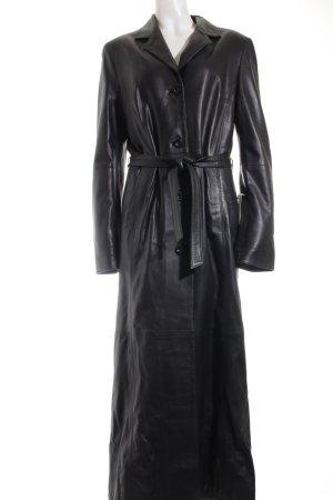 Lebens-ART Ledermantel schwarz extravaganter Stil
