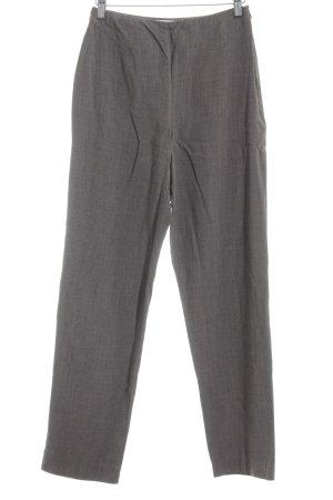 Lecomte Pantalone da abito marrone-grigio puntinato stile professionale