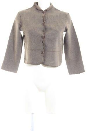 Lecomte Blazer corto marrone-grigio puntinato stile stravagante