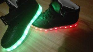 Led Leucht Schuhe nagel neu nur anprobiert