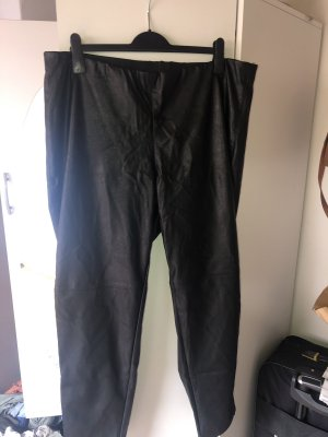 HM Leather Trousers black