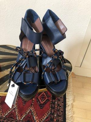Zara Peep Toe Pumps blue
