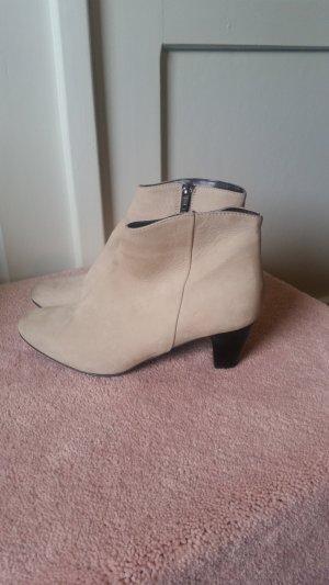 Leder Ankle Boots nude