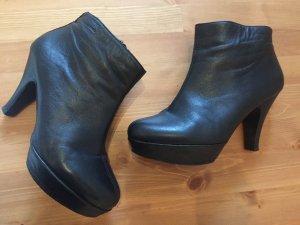 Leder Ankle Boots Plateau